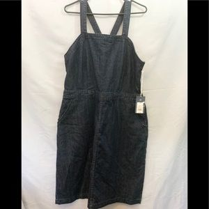 Universal Threads Plus Size Jean Overall Dress NWT
